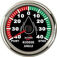 Black Black Homyl Rudder Angle Indicator Gauge 0-190ohm With 52mm