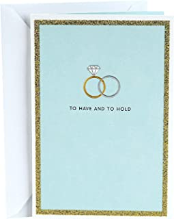 Hallmark Wedding Card (To Have and To Hold Wedding Bands)