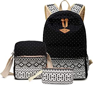 Girls Backpacks Lightweight Canvas Bookbags School Backpacks for Teens