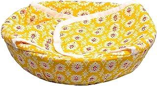 HOME GLARE Hygenic Cotton Roti Tokri Basket Round - Multicolor & Multiprint Design