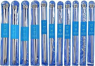 玉付き 棒針 25cm 22本セット ステンレス製 編み棒 編み針 2mm 2.5mm 3mm 3.5mm 4mm 4.5mm 5mm 5.5mm 6mm 7mm 8mm 手あみ針 編み物道具