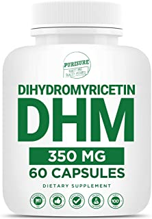 Purisure Dihydromyricetin (DHM), Perfect for Hangover Prevention & Cure, Intoxication Prevention, Hangover Vitamins for Nu...