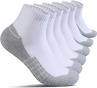 جوراب پنبه ای مردانه جوراب مردانه مچ پا ضخیم ، ضخیم و ضخیم برای پیاده روی در حال اجرا ورزش 6 بسته