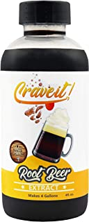 Crave It 4 Ounce Root Beer Extract - Easiest Homemade Root Beer, Makes 4 Gallons - 1 Pack