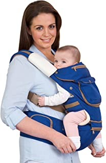 Clevamama Baby and Toddler Hip Seat Carrier, Blue, Pink, Sage/Silver, Universal