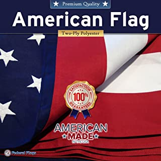 Federal Flags 3x5ft Super-Duty American Flag/US Flag 2-ply Heavy Outdoor Polyester - Fully Sewn Stripes, Embroidered Stars - Built for The Toughest Conditions - Made in The USA