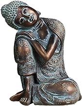 sharprepublic Bronze Resin Sleeping Buddha Statue Seat Resting Sleep Housewarming Gift