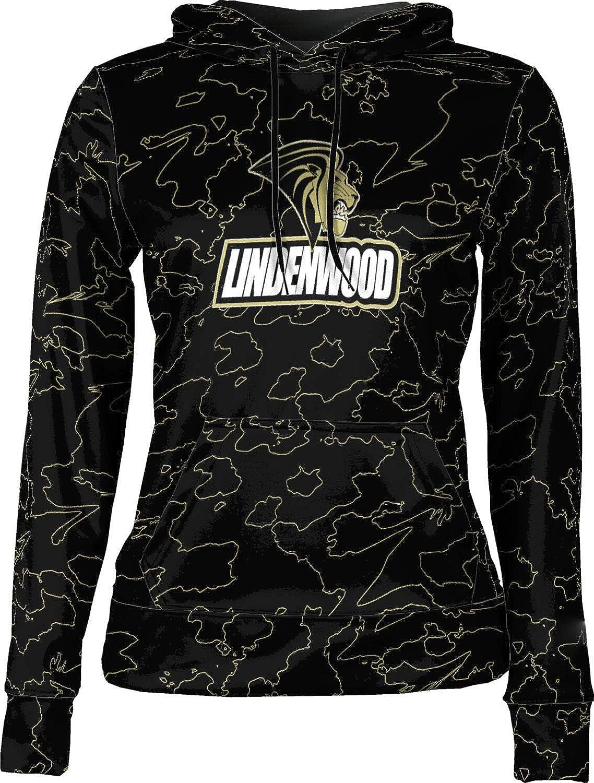 ProSphere Lindenwood University Girls' Pullover Hoodie, School Spirit Sweatshirt (Topography)