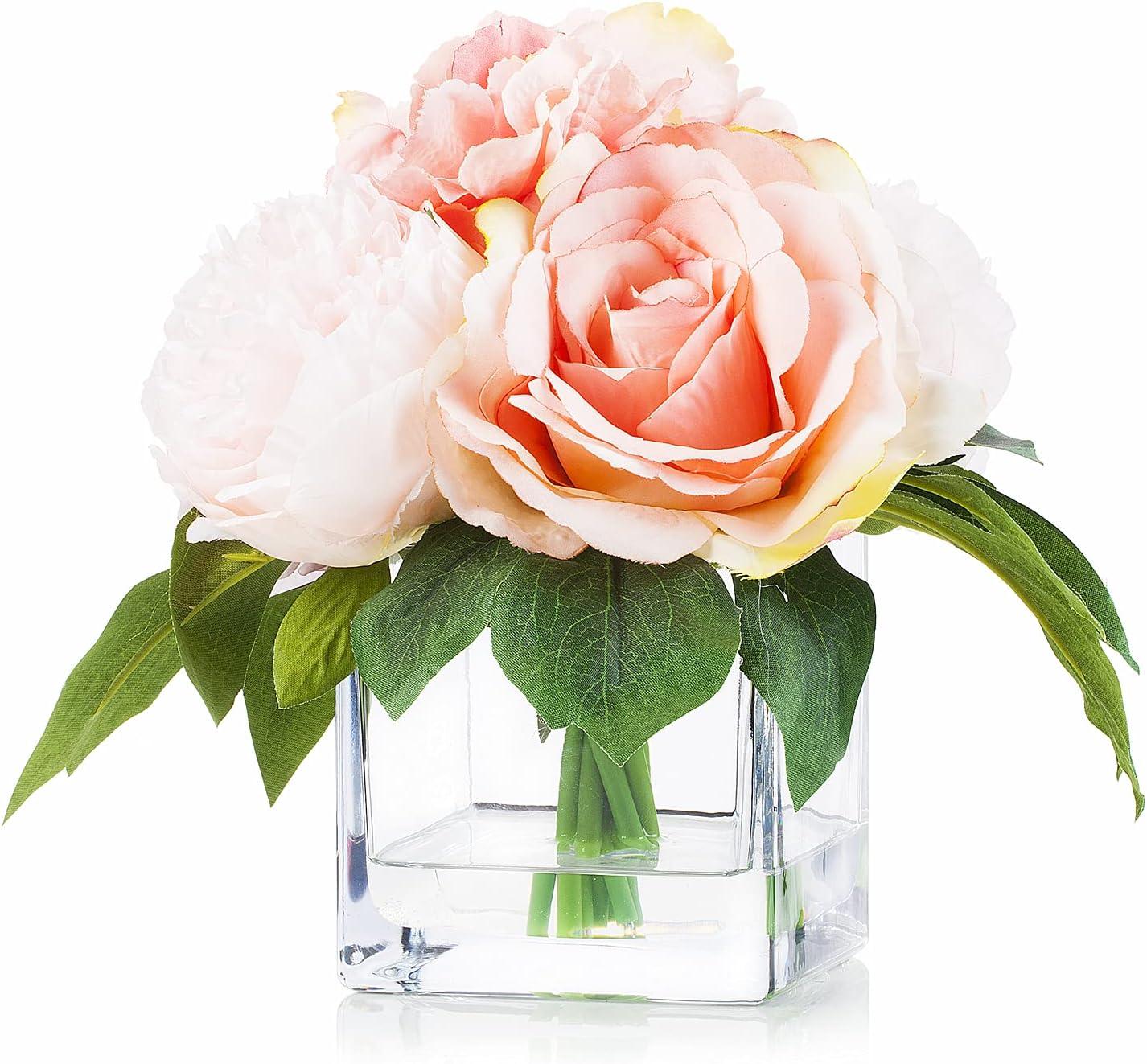 Enova 2021 spring and summer new Home Mixed Artificial Rose Rare Flower Hydrangea Peony Arra