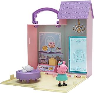 Jazwares 97005 Peppa Pig kleine bakkerij, opklapbare speelset met handgreep, 1 exclusief speelfiguur en veel accessoires, ...