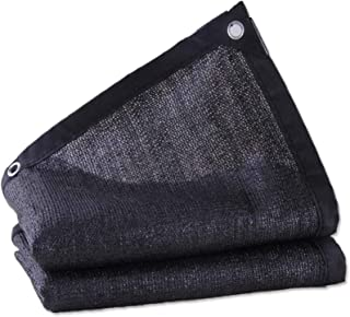 Sun Shade Sail Rectangle,Sunshade Cloth Sunshade Net Black 6-pin Tarpaulin Household Rainproof Sun UV Encryption Thick Tra...