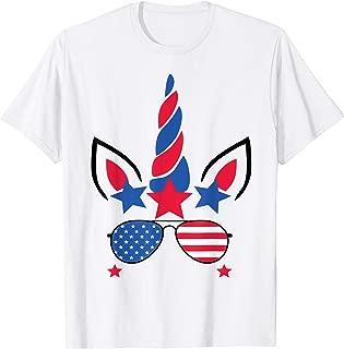 4th Of July Unicorn American Flag Patriotic Gift T-Shirt