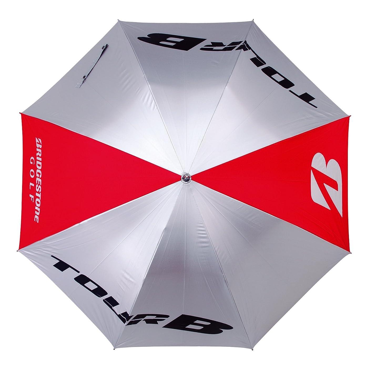 ヘクタール表現折るBRIDGESTONE(ブリヂストン) ゴルフ傘 TOUR B 銀傘  UMG72RD レッド