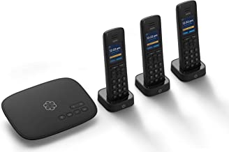 Ooma Telo VoIP Free Internet Home Phone Service with 3 HD3 Handsets. Affordable landline Replacement. Unlimited Nationwide...