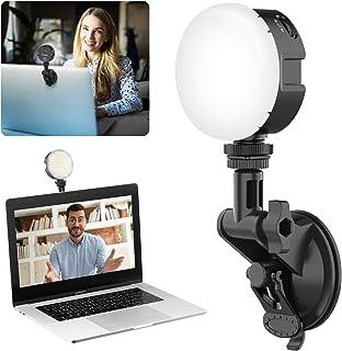 VL69 LEDミニビデオライト パソコン、カメラ用2wayライト リモート会議 照明 USB充電 3200K-6500K色温度 超高輝度 無段階調節 USB-C充電式 2000mAh 小型 ビデオ会議照明、テレーワーク/リモートワーク/ウェブ...