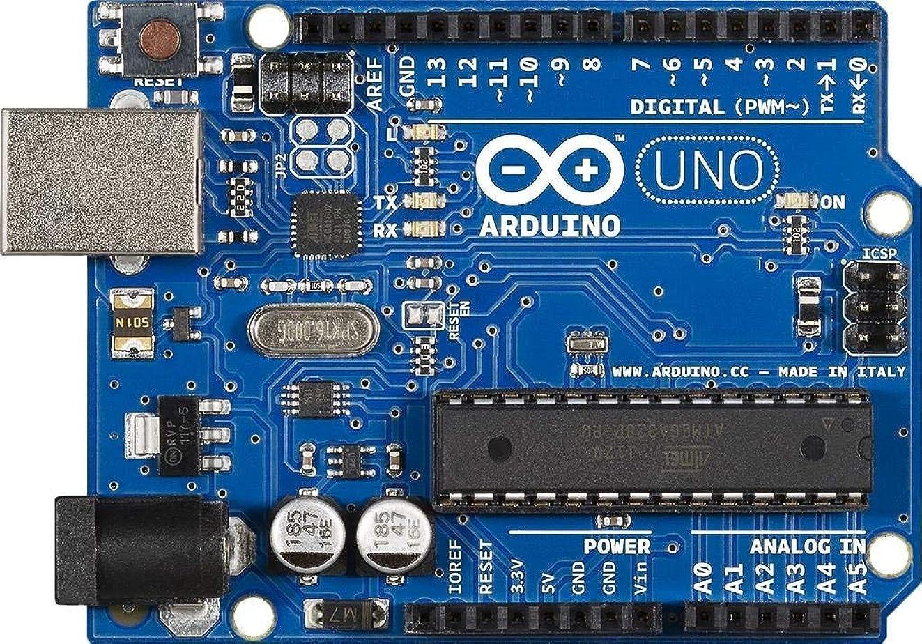 Arduino Uno R3 Development Board, Kit Microcontroller Based on ATmega328 and ATMEGA16U2 with USB Cable for Arduino, Original