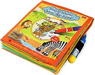 B.B.PAW Water Drawing Book, Magic Water Reusable Doodle Board for Kids to Learn and Develop Art Ability-Animals