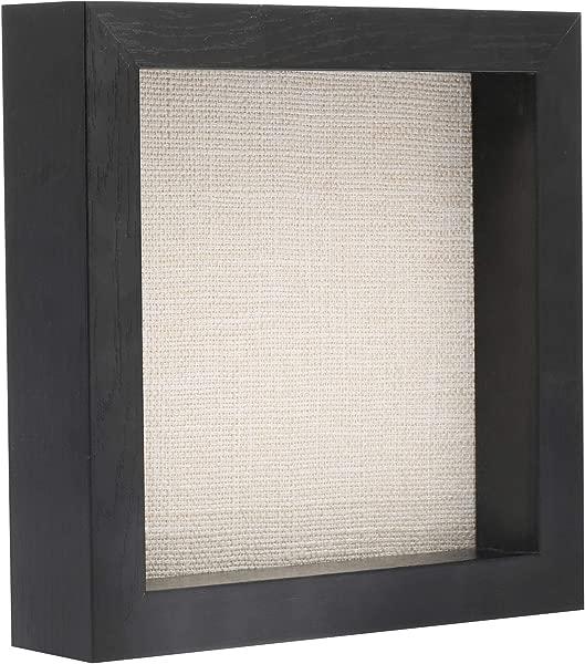 8x8 阴影框木展示盒别针颁奖奖牌照片记忆黑色