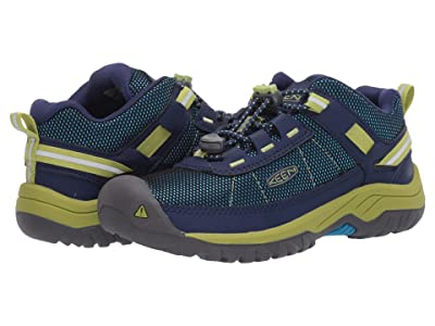 KEEN Kids Targhee Sport (Little Kid/Big Kid) (Blue Depths/Chartreuse) Boy