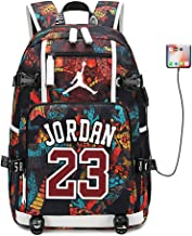 FANwenfeng Basketball Player Star Jordan Multifunction Backpack Travel Student Backpack Fans Bookbag for Men Women