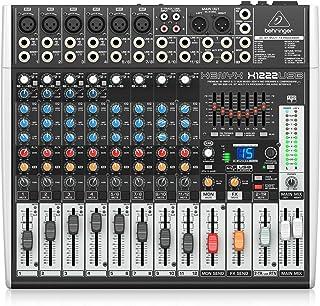 Behringer X1222USB Xenyx - Mezclador para DJ, color Negro