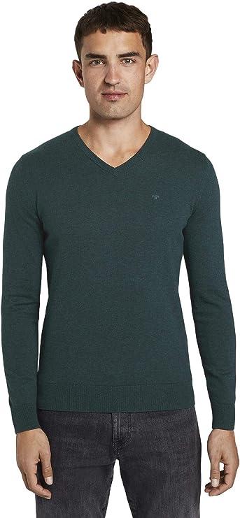 TALLA M. Tom Tailor Basic V-Neck Camiseta para Hombre