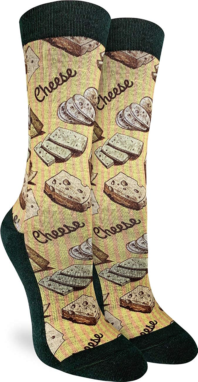 Good Luck Sock Women's online shopping Cheese Socks Wholesale Yellow Shoe Adult - 5- Size