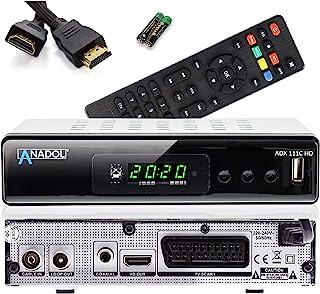 Anadol ADX 111c Full HD kabelontvanger, PVR opnamefunctie, timeshift, HDTV-ontvanger geschikt voor alle kabelaanbieders, H...