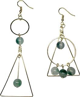 Beautiful Gray Earrings Great Quality Gemstone Jewelry! AAA Natural Fossil Agate Gemstone Earrings 13x55mm Rectangle Shape Earrings