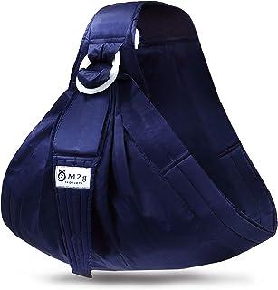 ベビースリング 新生児 抱っこ紐 横抱き スリング 調整可能 軽量 リングタイプ 安全基準検証済 [M2g] (ネイビー)