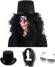 Tigerdoe Rockstar Costume - 3 Pc Set - 80s Costumes - Heavy Metal Wig - Rocker Accessories