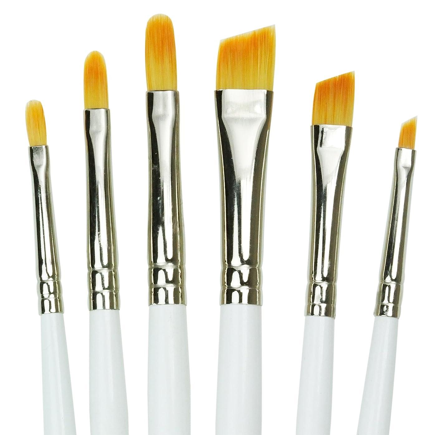 Royal Gold Royal and Langnickel Short Handle Paint Brush Set, Filbert and Angular, 6-Piece