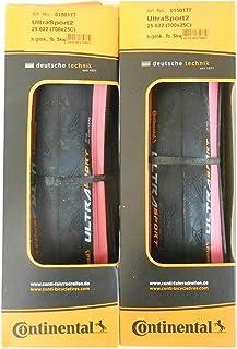 2本セット Continental(コンチネンタル) UltraSport2 ピンク カラー ウルトラスポーツ2 700c クリンチャー pink [並行輸入品]