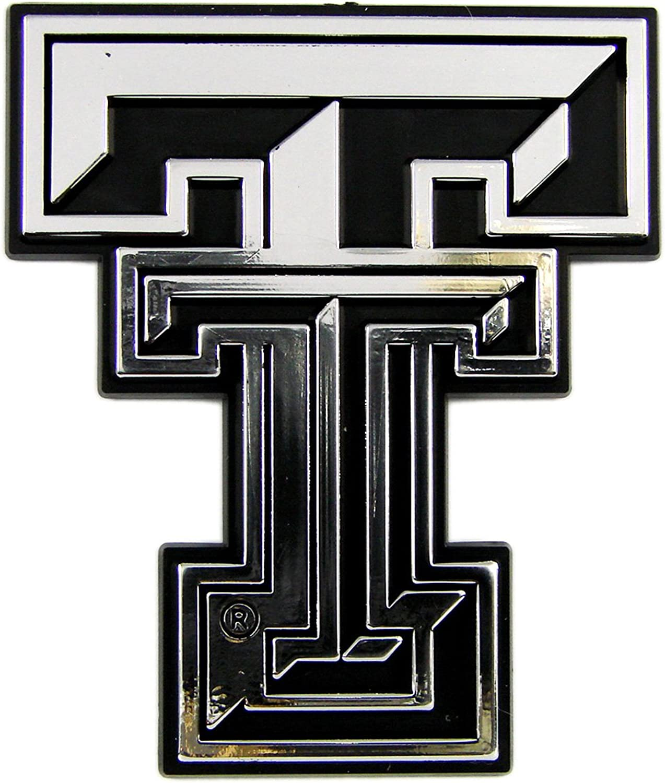 (Silver)  Texas Tech Red Raiders Classic Car Emblem