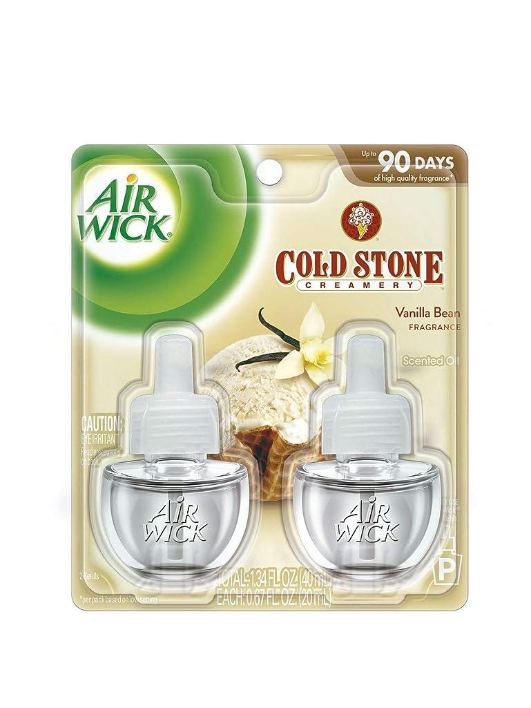 パーチナシティうま教え【Air Wick/エアーウィック】 プラグインオイル詰替えリフィル(2個入り) コールドストーン バニラビーン Air Wick Scented Oil Twin Refill COLD STONE Vanilla Bean (2X.67) Oz. [並行輸入品]