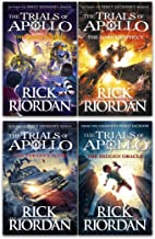 Rick Riordan Trials of Apollo Collection 4 Books Set (Dark Prophecy, Hidden Oracle, Burning Maze, The Tyrants Tomb [Hardcover])