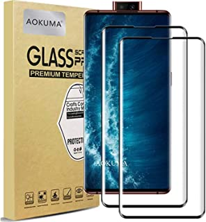 AOKUMA Vivo Nex 3/Nex 3S ガラスフィルム【3D曲面】強化ガラスフィルム 液晶保護ガラスフィルム 全面保護 フィルム 超薄0.33mm 硬度9H 飛散防止 高透過率 指紋防止 気泡なし 自動吸着(2枚セット ブラック)