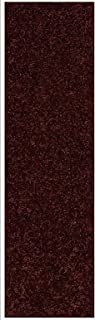 Home Queen Solid Chocolate Color Custom Size Runner 2' x 20' - Area Rug