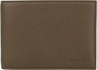 Bifold Brown Leather Wallet With Logo and Coin Pocket 292534 2527