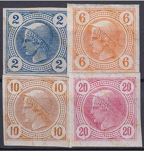 Goldhahn  erreich Nr. 101-104 Merkurkopf Zeitungsmarken 1901 mit Lackstreifen Briefürken für Sammler