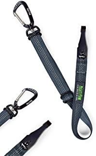 Mighty Paw Safety Belt, Dog Seat Belt, Heavy Duty Hardware Including Tangle-Free Swivel Attachment, Carabiner, and Latch Bar Attachment.