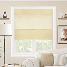 CHICOLOGY Cordless Magnetic Roman Shades Privacy Fabric Window Blind, 33