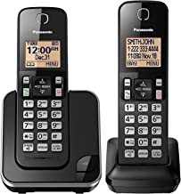 PANASONIC Expandable Cordless Phone System with Amber Backlit Display – 2 Handsets –..
