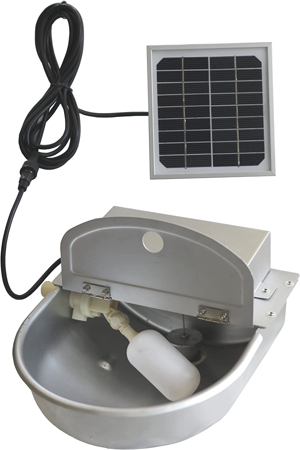 Ancnoble AutoRefill Steel Solar Powered Water Dispenser for Pets, 12 by 11 by 7Inch