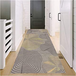 Runner Rug for Hallway, 0.6cm Thick Pile Non Slip Entrance Mat, Comfy Soft Area Rugs for Hall Kitchen Staircase, Decoratio...