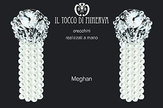 Orecchini Swarovski Meghan - Realizzati a Mano - Made in Italy-HandaMade-Regali ragazza-Prodotto Artigianale-idee regali o...