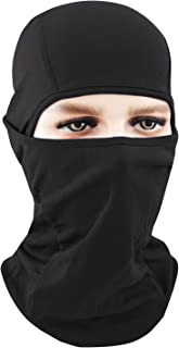 Your Choice Balaclava Black Motorcycle Full Face Mask Sun Protection Thin Face Mask for Women and Men Color Black