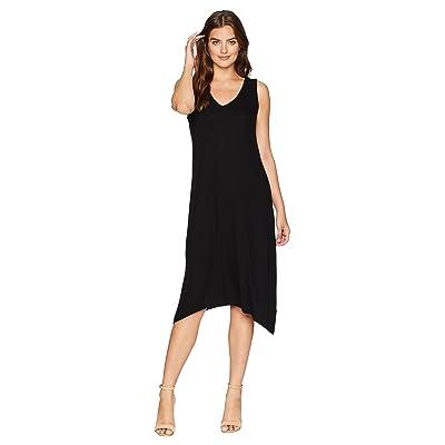 Michael Stars 2X1 Rib Cross-Back Tank Dress (Black) Women