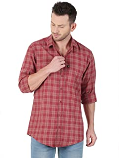 LEVIZO Men's Checkered Cotton Casual Classic fit Full Sleeves Shirt