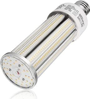 45W LED Corn Bulb, Daylight 5000K 6,550LM E26 Base Cob Lamp [200W HID/MH/CFL Equiv.] Street Lighting for Garage Post Top Acorn Warehouse High Bay Barn Basement Garden Retrofit Light 100-277VAC UL DLC